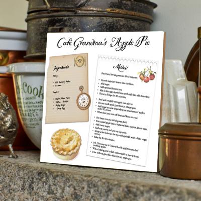 Cafe Grandma's Apple Pie Recipe Tile