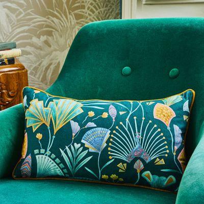 Emerald Fan Rectangle Cushions