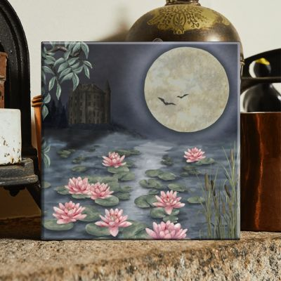 The Moonlit Lily Garden Tile