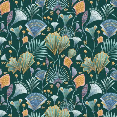 Emerald Fan Upholstery Fabric