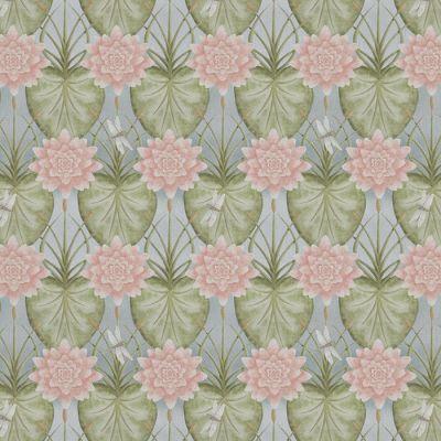 Lily Garden Eau De Nil Fabric