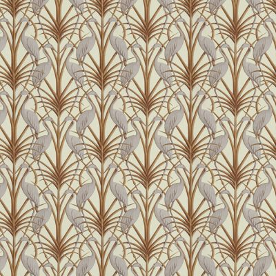 Nouveau Heron Cream - Upholstery Fabric