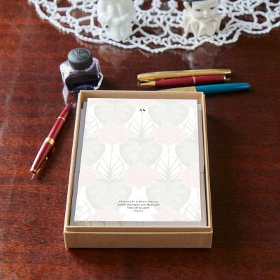 Monogrammed Lily Notepaper