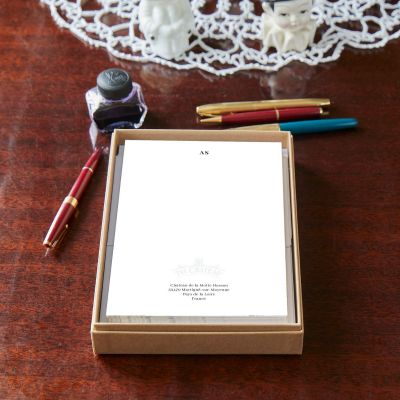 Monogrammed Chateau Logo Small Notepaper