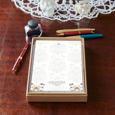 Monogrammed Potagerie Repeat Notepaper