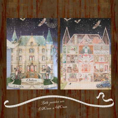 The Chateau in Watercolour Puzzles - Set of Two