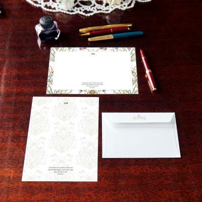 Monogrammed Potagerie Border Notecard & Notepaper Set