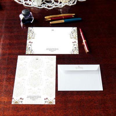 Monogrammed Potagerie Notecard & Notepaper Set