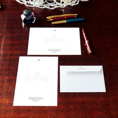 Monogrammed The Chateau Notecard & Notepaper Set