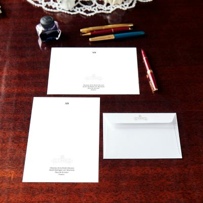 Monogrammed The Chateau Small Logo Notecard & Notepaper Set