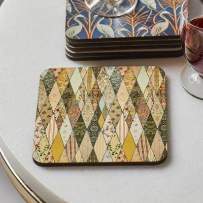 Coaster featuring Angel Strawbridge's iconic wallpaper museum design