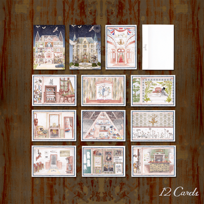 Watercolour Set of 12 Cards & 12 Postcards