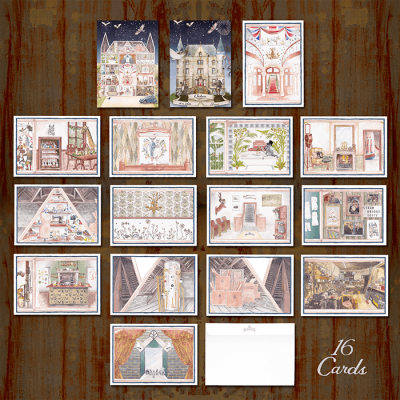 Watercolour Set of 16 Cards & 16 Postcards