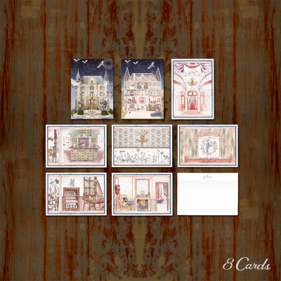 Watercolour Set of 8 Cards & 8 Postcards