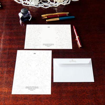 Monogrammed Wildflower Stationery Set