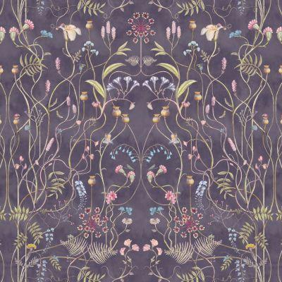 The Wildflower Garden Nightshadow Upholstery Fabric