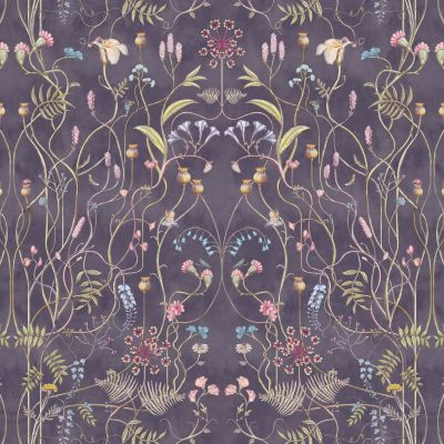 The Wildflower Garden Nightshadow Fabric