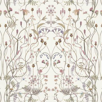 The Wildflower Garden Whisper White Upholstery Fabric