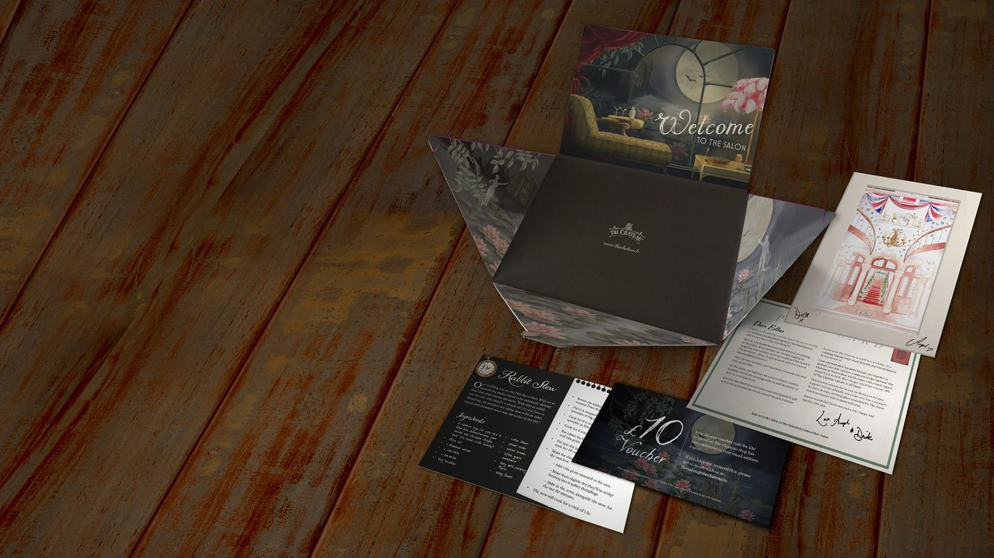 Escape to the chateau personalised welcome pack