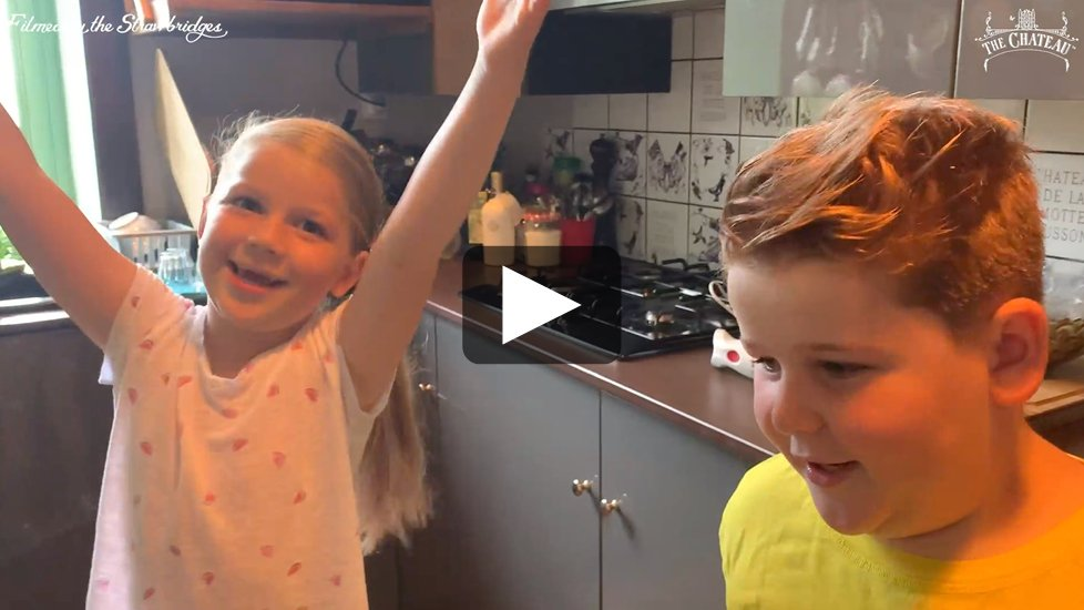 Video frame of Arthur and Dorothy in the kitchen, link to full video